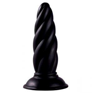 фаллоимитатор черный рифленый с вибрацией для секса и мастурбации