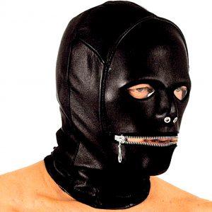 маска бдсм с прорезями для глаз и рта для сексуальных ролевых бдсм игр вагинального анального и орпльного секса
