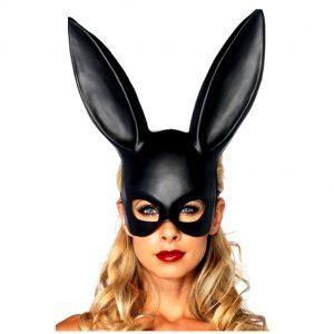 маска бдсм с прорезью для глаз в виде кролика для сексуальных ролевых бдсм игр вагинального анального и орпльного секса