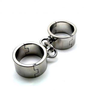 наручники бдсм металлические жесткие для фиксации и ролевых бдсм игр вагинального орального и анального порно секса