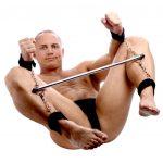 наручники и оковы фиксаторы бдсм с металлической трубой для ролевых бдсм игр вагинального орального и анального порно секса