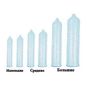 разные размеры презервативов для больших и маленьких хуев