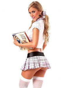 ролевой костюм ученицы для ролевых игр в сексе мастурбации и анала