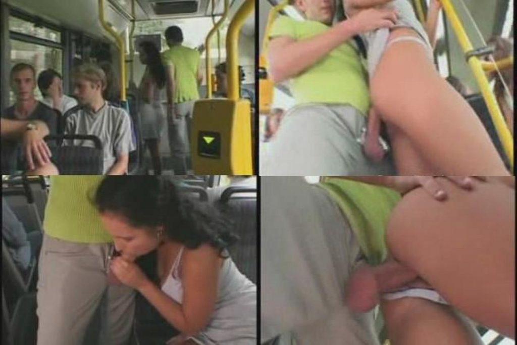 Дрочит в автобусе и его заметили
