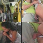 скрытая дрочка в автобусе