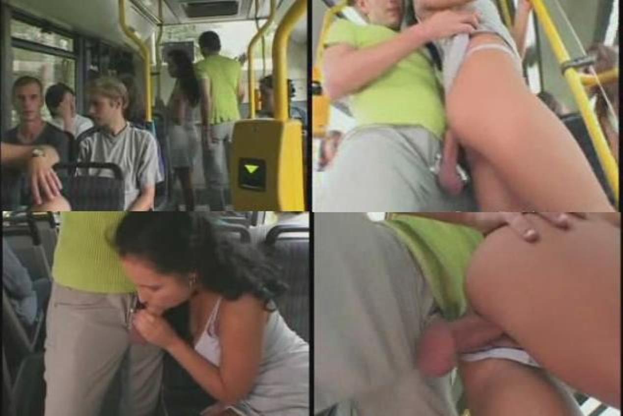 И в на транспорте мастурбация улице