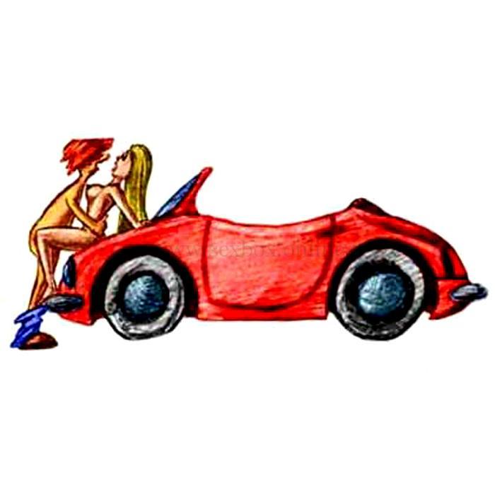 Позы для секса на капоте машины