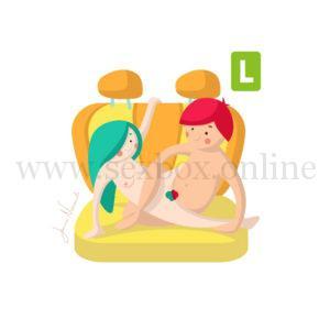 Поза для секса в машине на заднем сидении Девушка обнимает парня ногами