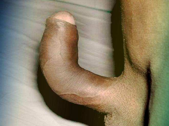 Фото: кривой половой член негра