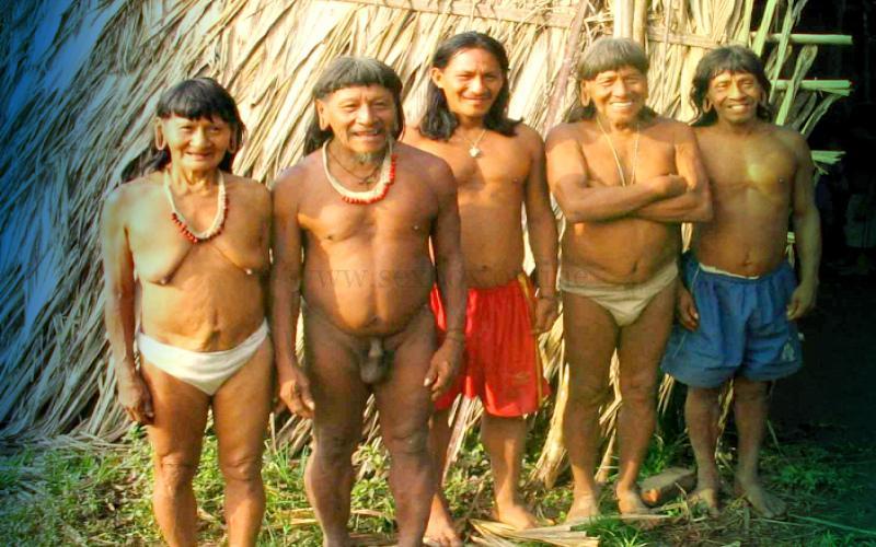 4 мужа в семье аборигенов Африки