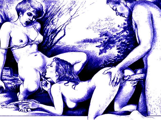 рисованое фото секс